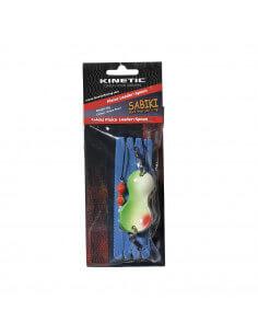 Fladfiskeforfang m. Ske Green Pearl fra Kinetic