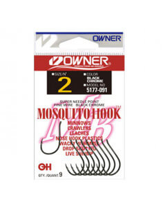 Enkeltkrog Mosquito Hook fra Owner