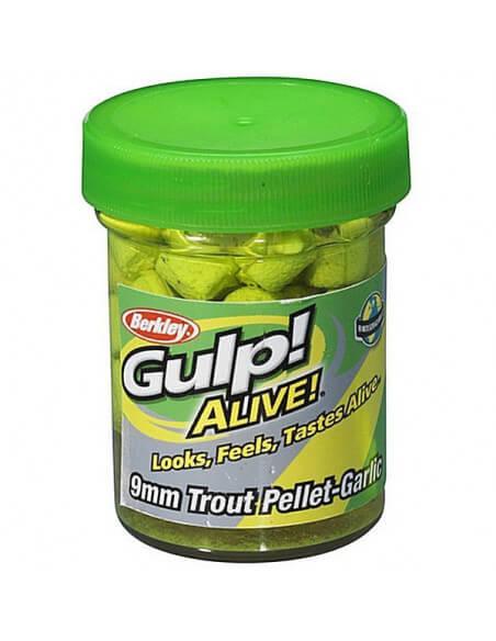 Gulp Alive! Trout Pellets Chartreuse fra Berkley