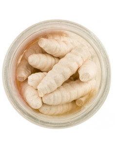 Gulp Alive! Honey Worms Milky White fra Berkley