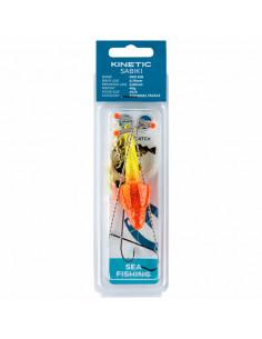 Fladfiskeforfang Yellow Glitter / Red Target fra Kinetic