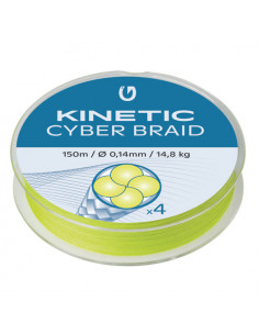 Cyber 4 Braid Fluo Yellow fra Kinetic