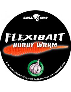 Flexibait Booby Worm - Orange fra Skull Gear