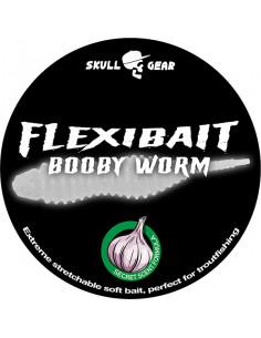 Flexibait Booby Worm - White fra Skull Gear
