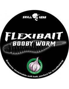 Flexibait Booby Worm - Black fra Skull Gear