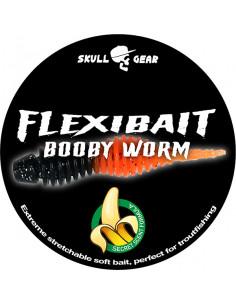 Flexibait Booby Worm - Black Orange fra Skull Gear