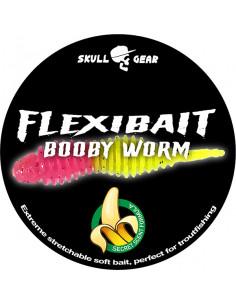 Flexibait Booby Worm - Pink Yellow fra Skull Gear