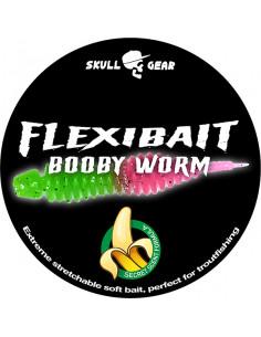 Flexibait Booby Worm - Green Pink fra Skull Gear