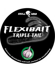 Flexibait Triple Tail - Black fra Skull Gear