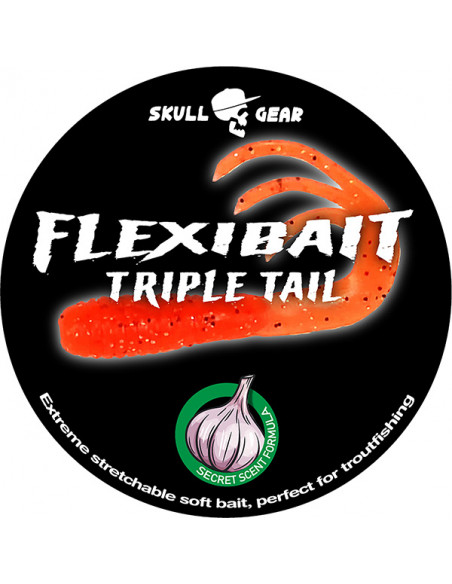 Flexibait Triple Tail - Orange fra Skull Gear