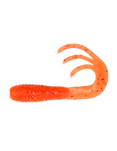 Flexibait Triple Tail - Orange fra Skull Gear - 2